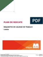 Trabajos en Altura - Plan de Rescate - Requisitos de Calidad de Trabajo (Común) - 8318642