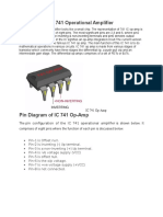 IC 741 Operational Amplifier