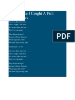 12345 Once I Caught A Fish Alive.docx