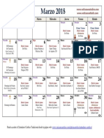 Calendario Liturgico Marzo 2018