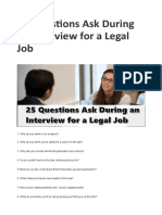 25 Questions Ask During an Interview for a Legal Job – My Blog