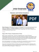 2005 US Chess Championship (Reportage)