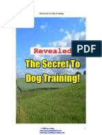 Secret to Dog Training