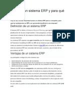 Qué Es Un Sistema ERP y Para Qué Sirve