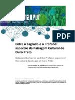 Entre o Sagrado e o Profano Aspectos Da Paisagem Cultural de Ouro Preto