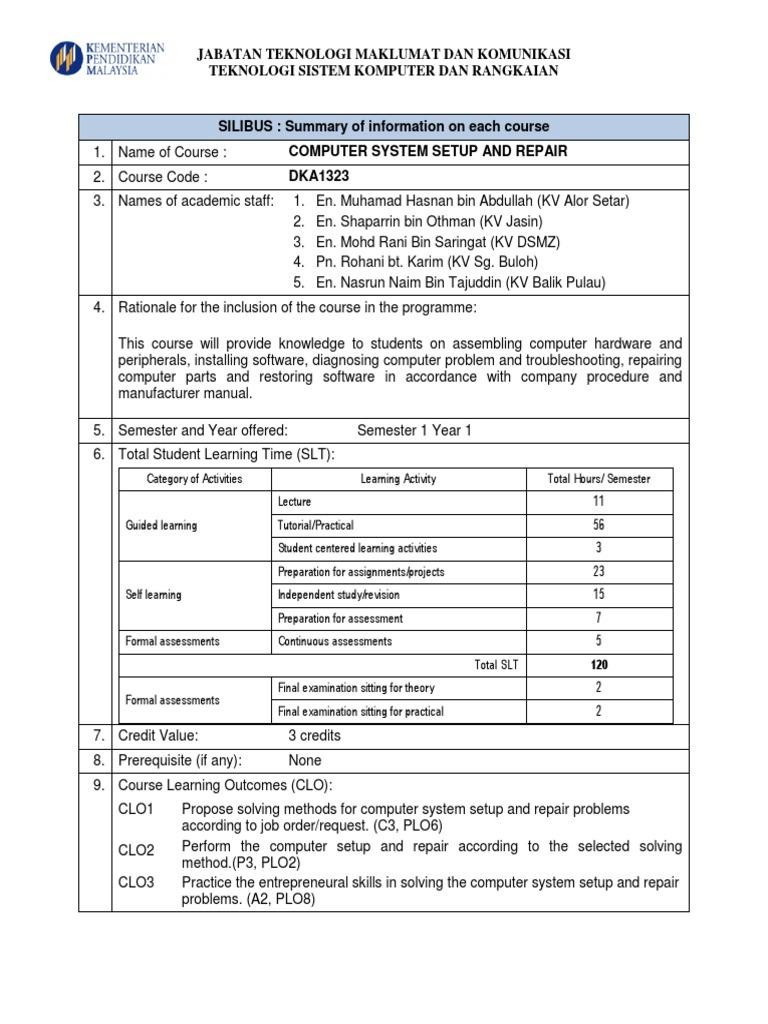 Silibus Dka 1323 Educational Assessment Software Essai