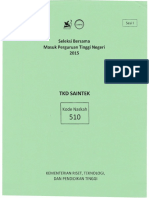 2015 Saintek Sbmptn 510 V