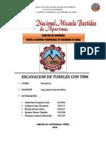 Monografia de Excavacion de Tuneles Con Tbm