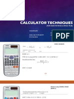 Calculator Techniques Orig
