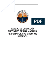 Manual de Operacion Maquina Perforador
