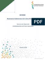 Informe Resonancia Subsíncrona de La Zona Norte Del SEN