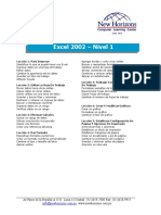 Excel 2002 Nivel 1,2,3