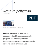 Residuo Peligroso - Wikipedia, La Enciclopedia Libre