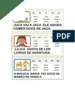 Fichas de Leitura Com Frases Fichas Ilustradas Com Palavras Em PDF