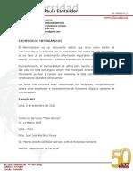 Modelos de Memorandum