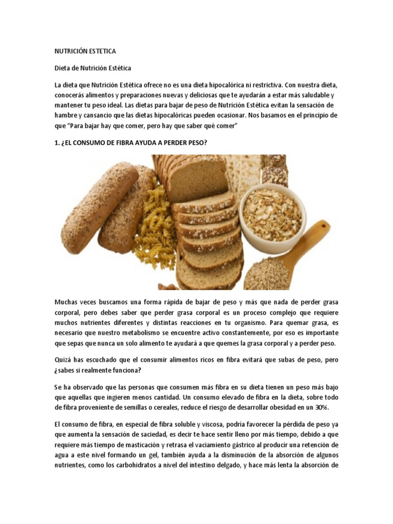 alimentos ricos en fibra para perder peso