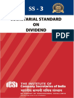 Secretarial Standards on  Divided