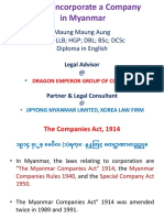 How to Set Up a Company in Myanmar