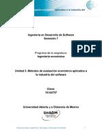 Unidad 3 Metodos de Evaluacion Economica