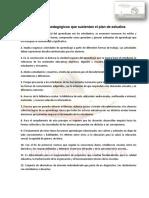Principios Pedagógicos Que Sustentan El Plan de Estudios Actividades