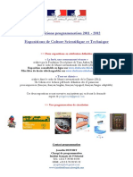 Programamtion CST 2012 Site Internet