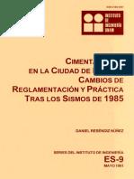 Cimentaciones en la ciudad de México _ cambio de reglamentación y práctica tras los sismos de 1985.pdf