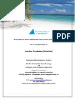 Job Maldives 030718