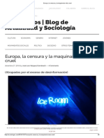 Europa, La Censura y La Maquinaria Más Cruel