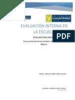 Curso 1. Ensayo Evaluación Educativa Externa. Amalia Isabel Pérez Alanís.
