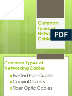 Common Types of Networking Cables