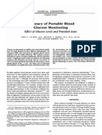 Accuracy of Portable Blood Glucose Monitoring