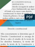 Definicion de Derecho Constitucional