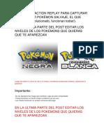 La Lista de Action Replay Para Capturar a Cualquier Pokémon Salvaje 2