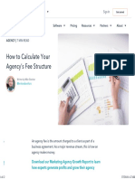 How to Calculate Your Agency's Fee Structure