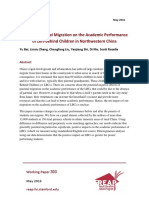303 - Effect of Parental Migration on the Academic Performance of Left-behind Children in Northwestern China