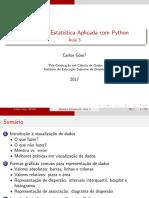 Métodos de Estatı́stica Aplicada com Python