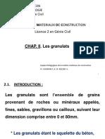Granulats Cours Corrigé 2018