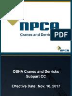 Cranes and Derricks Safety