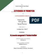 Mahesh & Hiren (Effectiveness of Promotion)