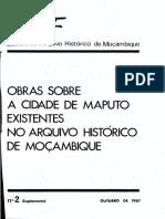 Boletim Do Arquivo Histórico de Moçambique Nº2 (Suplemento) Outubro de 1987 - Obras Sobre a Cidad