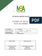 Panduan Mutu TUK Mandiri LSP K3 Indonesia MBA