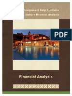 Sample on Financial Analysis from Instant Assignment
