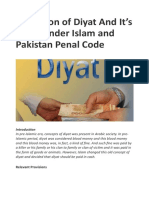 Definition of Diyat and It's Value Under Islam and Pakistan Penal Code – My Blog