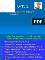 Characteristic of Islāmic Institution.Topic 3 (Asar).ppt