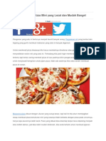 Cara Membuat Pizza
