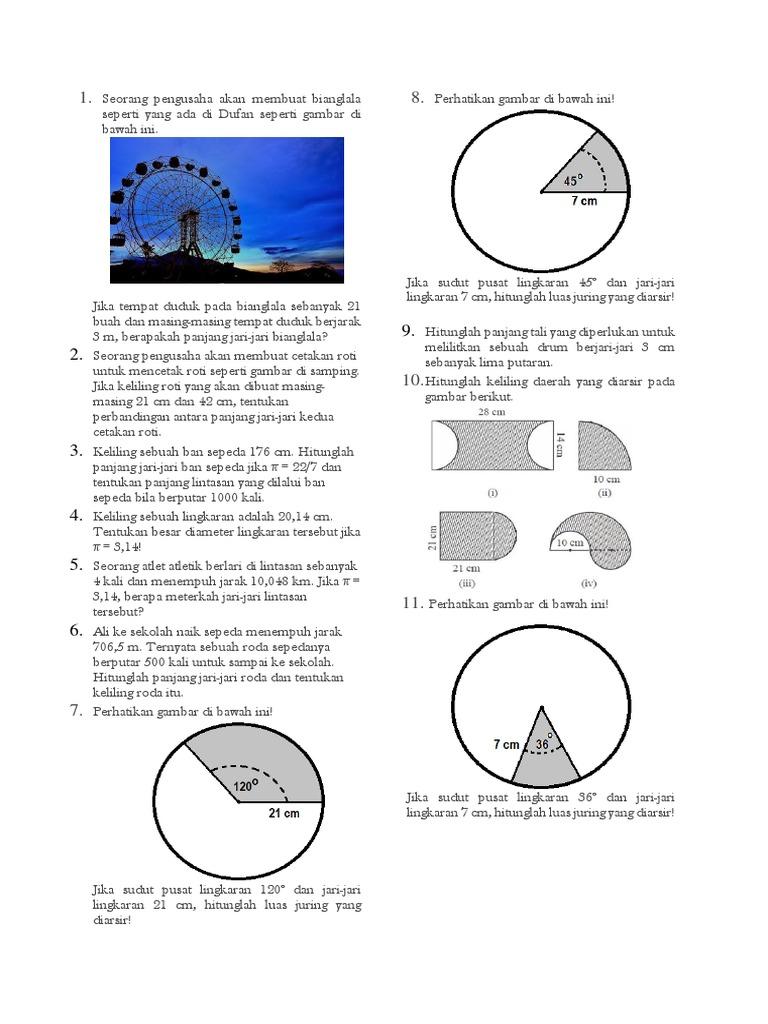 Luas Keliling Lingkaran Viii Docx