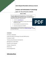 Dispute Resolution Information Technology Principles Good Practice