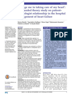 'Engage Me in Taking Care of My Heart'a Grounded Theory Study on Patient–Cardiologist Relationship in the Hospital Management of Heart Failure