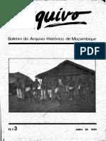 Boletim Do Arquivo Histórico de Moçambique Nº3 - Abril de 1988