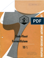 Ferrosilizium Schwerflüssigkeitsaufbereitung Ferrosilicon Sink Float